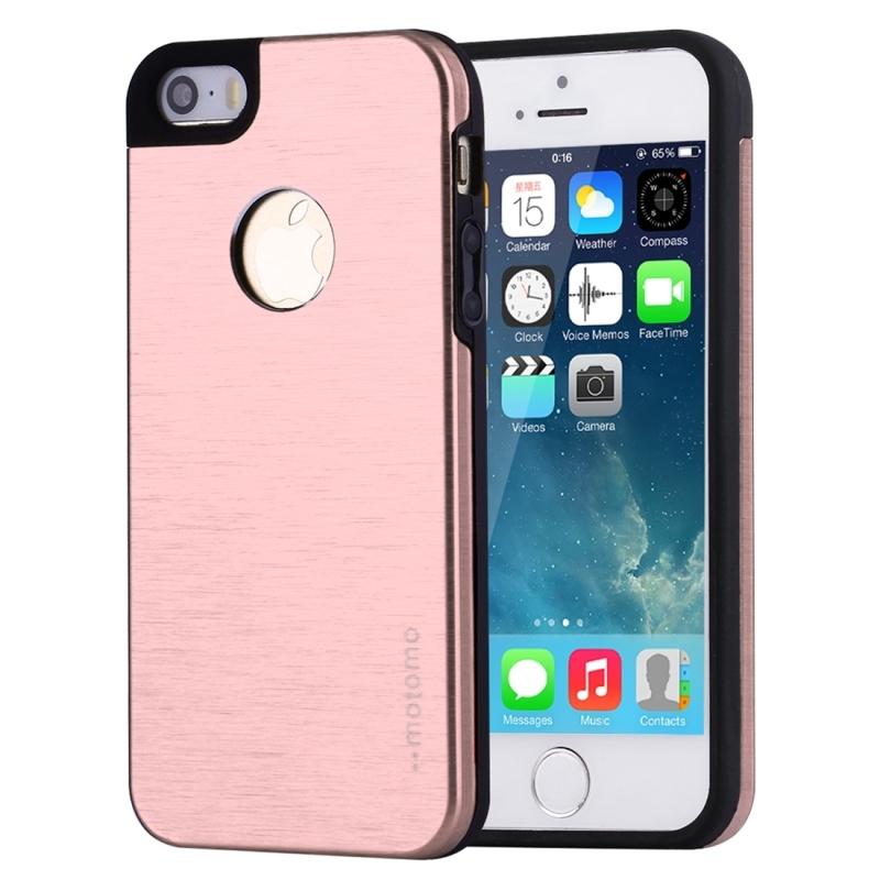 MOTOMO kovový ochranný zadný kryt pre Apple iPhone 5 5S SE – ružovo- ... b20237ae007