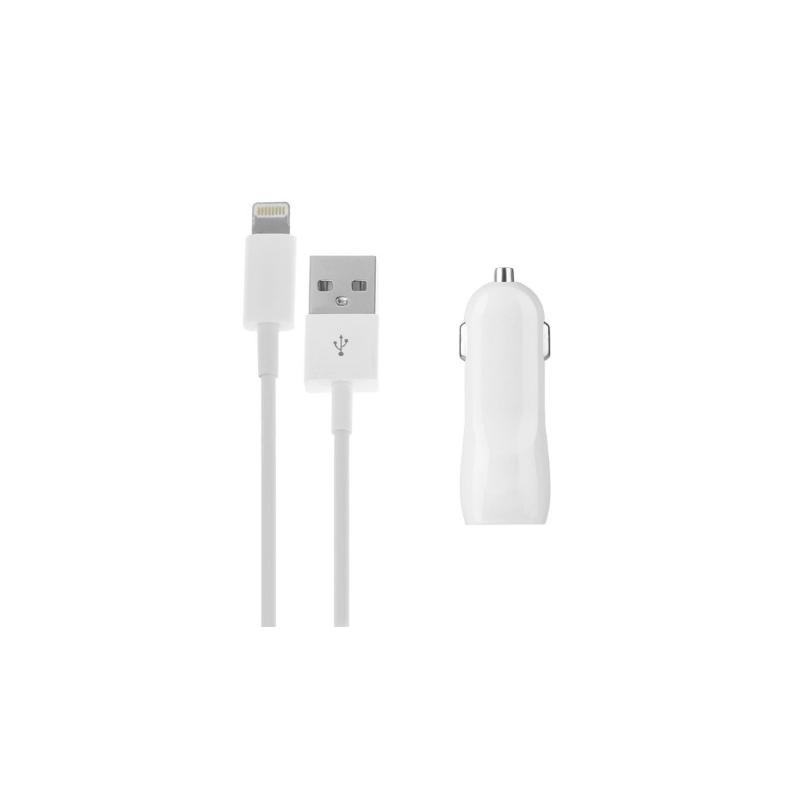 2v1 nabíjacia súprava pre zariadenia Apple – autonabíjačka s dvoma USB  portami (3.1A) a Lightning kábel 6830c831555