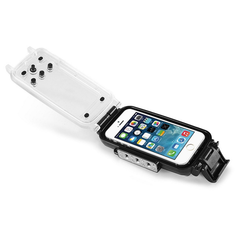 ... IPX8 vodotesné puzdro do hĺbky 40 m pre iPhone 5 5s SE – čierne ... a651315cea3