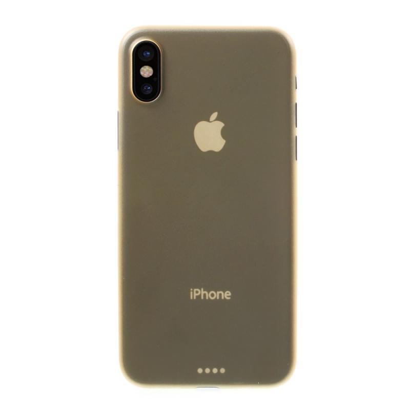 Plastový ultratenký matný zadný kryt pre Apple iPhone XS   iPhone X – zlatá  ... 325a840232a