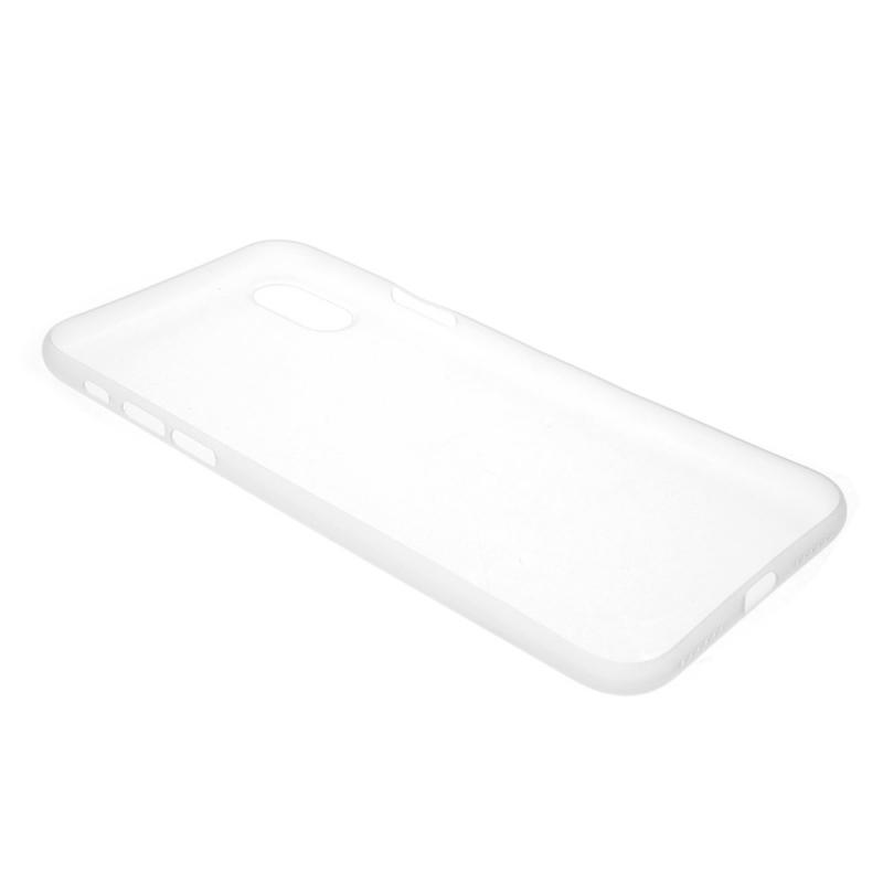 ... Plastový ultratenký matný zadný kryt pre Apple iPhone XS   iPhone X –  transparentná 050c69839ad