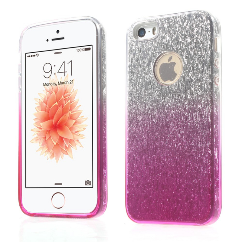 3v1 trblietavý kryt pre iPhone 5 5S SE – ružový - AppleKing.sk 60aef0a38c9