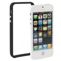 Ochranný plastový rámček   bumper pre iPhone 5   5S   SE - čierny d4107ddd810