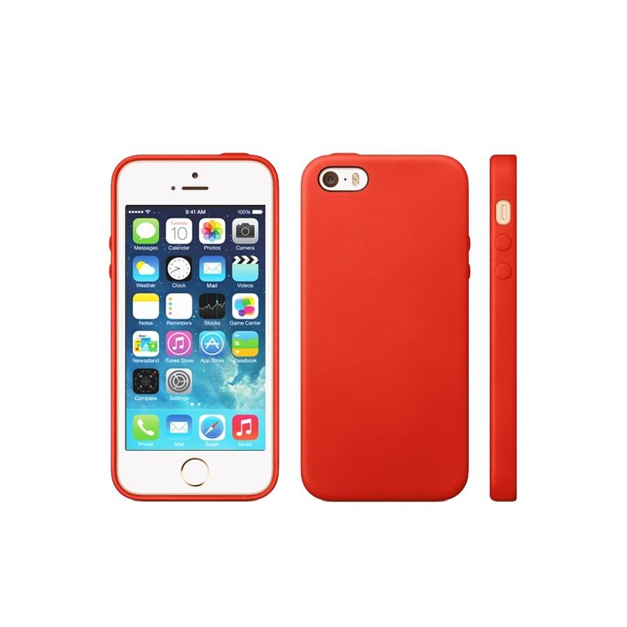 Kryt v originálnom Apple dizajne pre iPhone 5   5S   SE - červený ... 699af05cecd