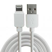 Synchronizačný anabíjací kábel lightning pre iPhone / iPad / iPod - 1m - biely