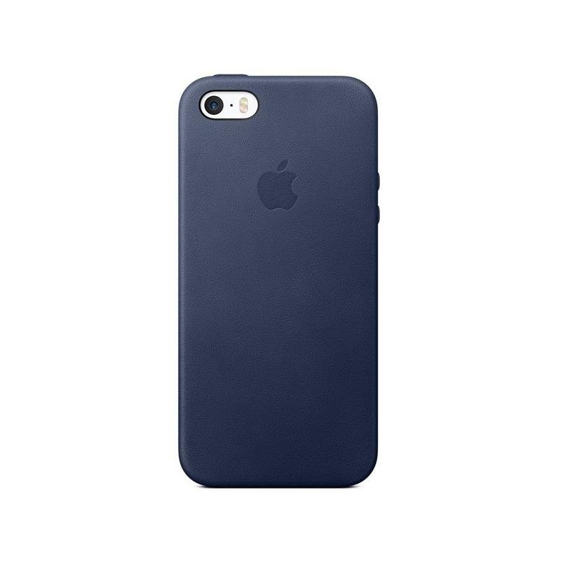 Originálny kožený kryt pre Apple iPhone 5S SE – polnočne modrý ... a27a71b4fc1