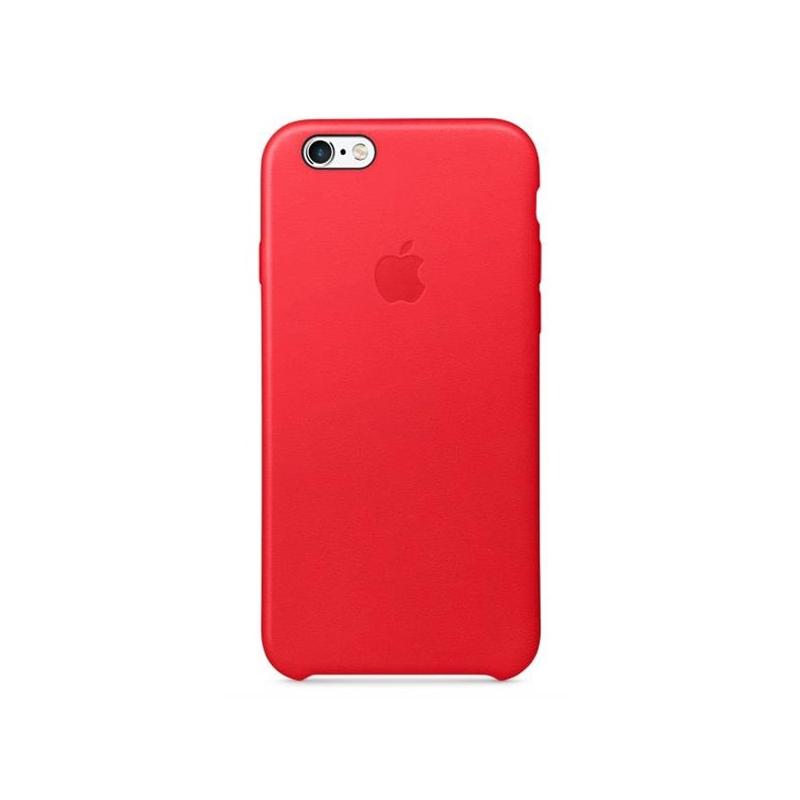 Originálny kožený kryt pre Apple iPhone 6S Plus – červený - AppleKing.sk 313fd17a4c4