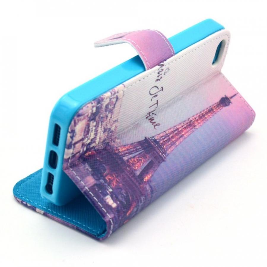 ... Peňaženkové puzdro so stojančekom a slotmi na karty pre Apple iPhone 5  5S SE e85f2f625d9