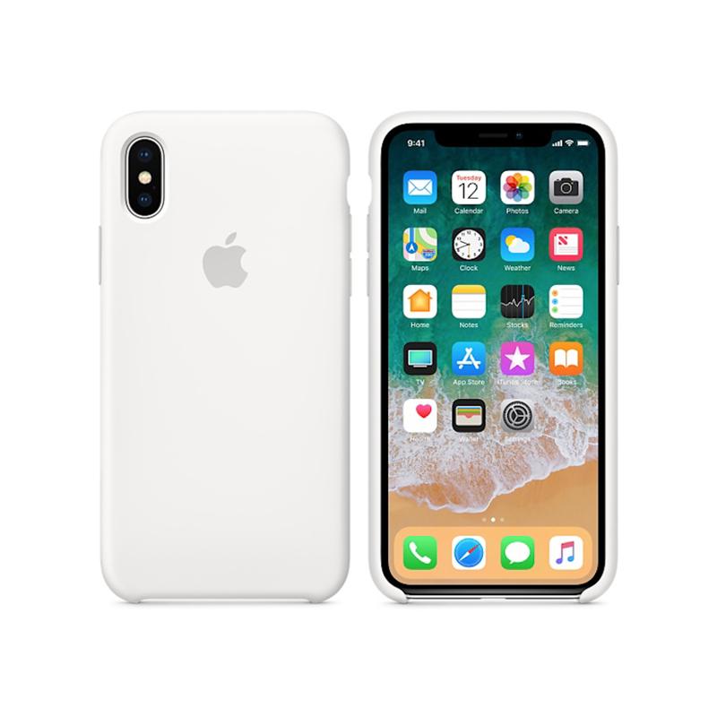 Originálny silikónový kryt pre Apple iPhone XS   iPhone X – biely ... 40e95876eda