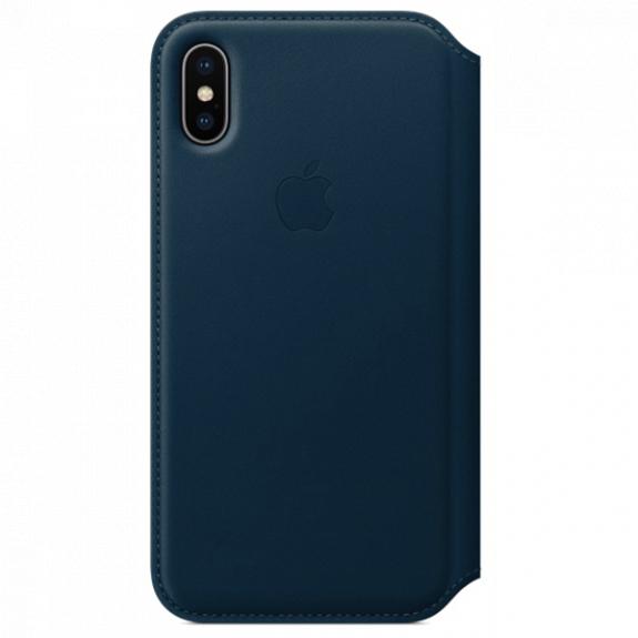 ... Originálne kožené puzdro Folio pre Apple iPhone XS   iPhone X – vesmírne  modré · Zobraziť všetky obrázky. Zľava -11% d45b9a274a8