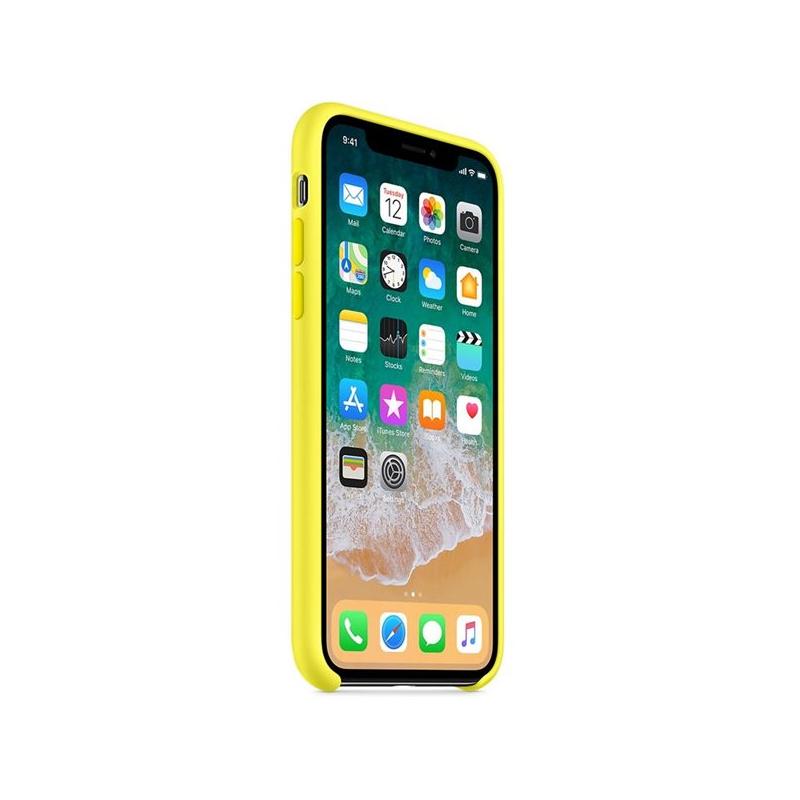 ... Originálny silikónový kryt pre Apple iPhone XS   iPhone X – žiarivo žltý  ... 06fdbc8202f