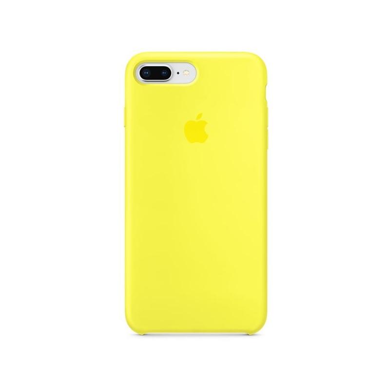 Originálny silikónový kryt pre Apple iPhone 8 Plus 7 Plus – žiarivo žltý ... 5075ccbaac5