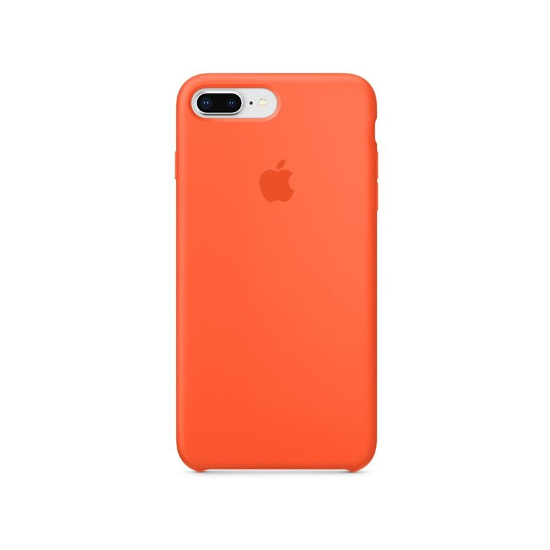 Originálny silikónový kryt pre Apple iPhone 8 Plus 7 Plus – paprikovo  oranžový ... 19a777a1479