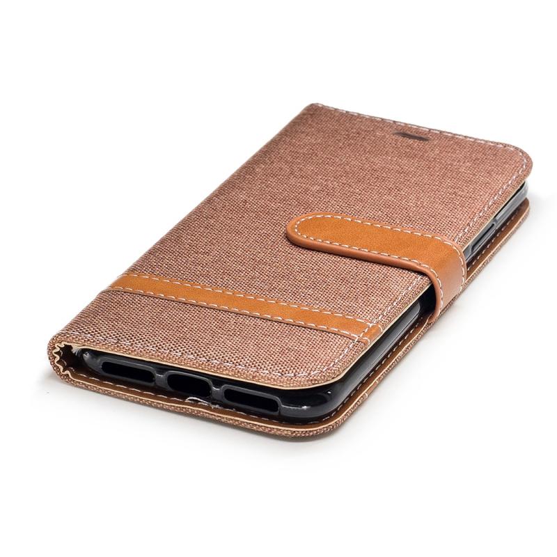 ... Luxusný denim rifľový obal na iPhone XS   iPhone X s priestorom na doklady  a ... 21e28e9fd5a