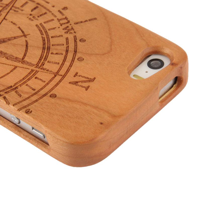 Drevený kryt pre Apple iPhone 5 5S – kompas - AppleKing.sk 955e07c571e