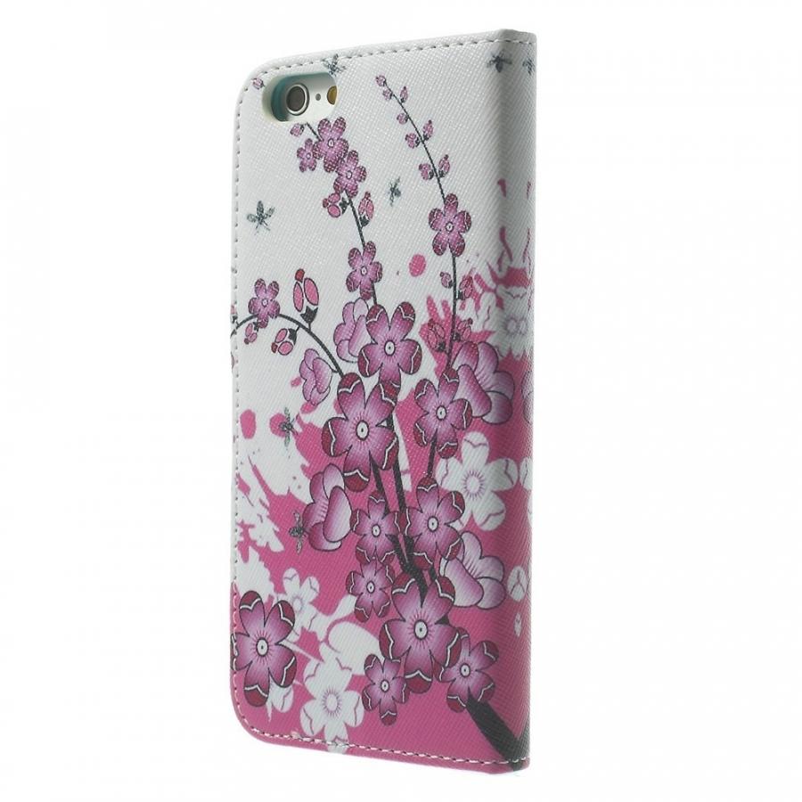 ... Peňaženkové puzdro so stojančekom a slotmi na karty pre Apple iPhone  6 6S - Rozkvitnutá ... 2b852445fb9