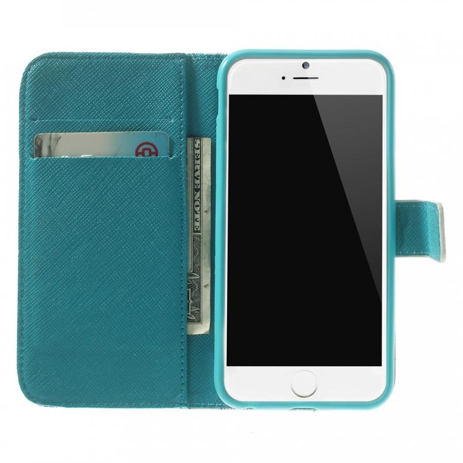 ... Peňaženkové puzdro so stojančekom a slotmi na karty pre Apple iPhone  6 6S - Kvetinový ... aaeb667457b