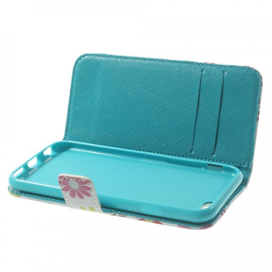 ... Peňaženkové puzdro so stojančekom a slotmi na karty pre Apple iPhone  6 6S - Kvetinový f0189fcb964
