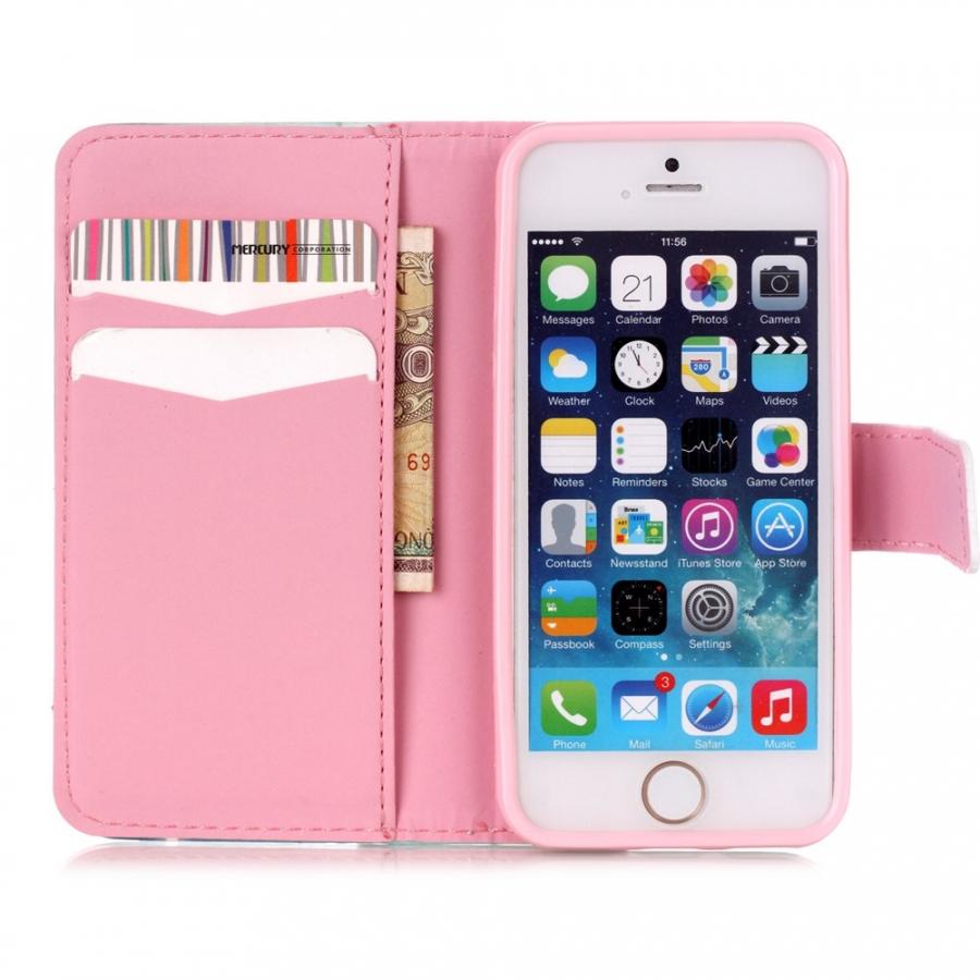 ... Peňaženkové puzdro s klipsou pre Apple iPhone 6 6S - Motýle a kvetiny 0137b2c522e