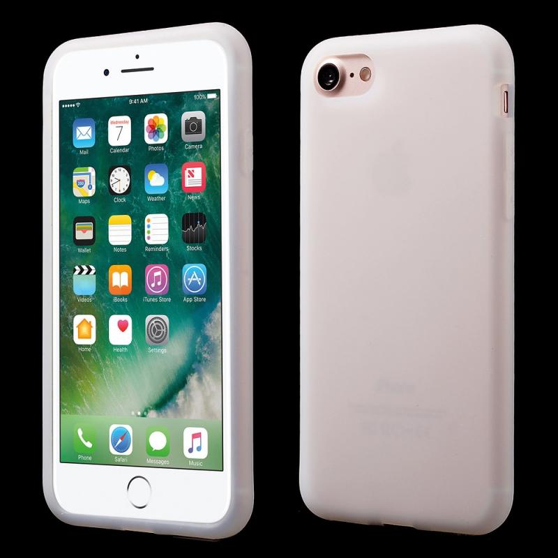 Matný zadný kryt zo silikónu pre Apple iPhone 7 8 – biely - AppleKing.sk 920b5d84951