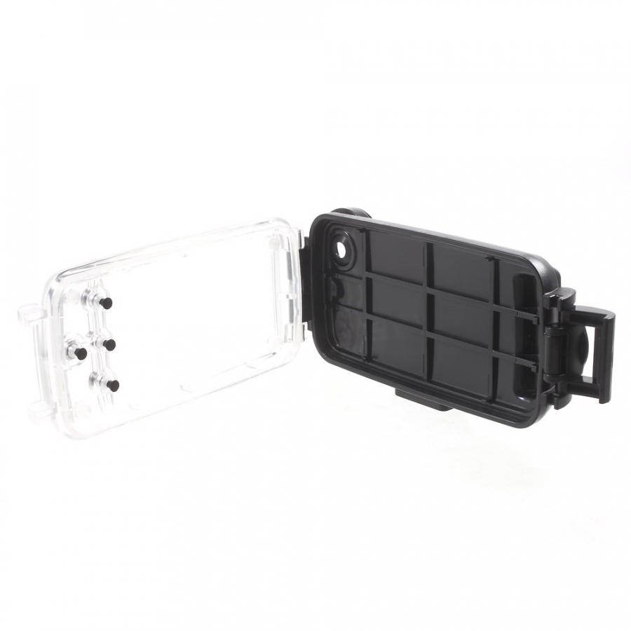 Vodotesné vysoko odolné IPX8 puzdro s kompasom pre Apple iPhone 6 6S -  čierne ... 794f471ea38