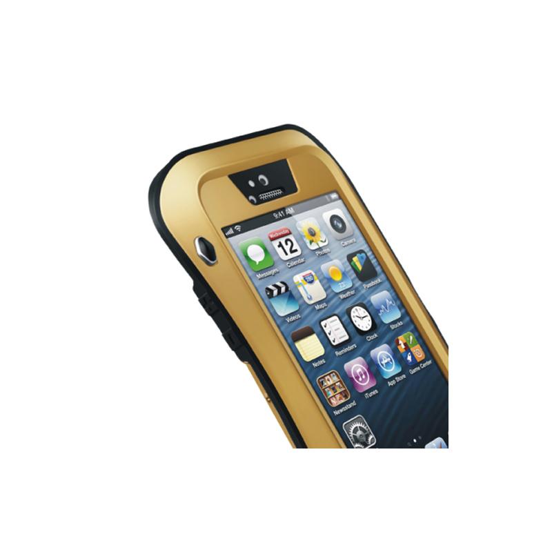 ... LOVE MEI tenké vodo- prachovzdorné puzdro s kovovým rámčekom pre Apple iPhone  5  4c92c19b3f8