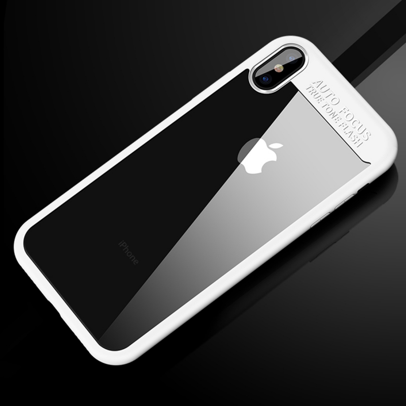 CAFELE ochranný kryt pre Apple iPhone XS   iPhone X s transparentnou zadnou  stranou – biely ... 05201636d97
