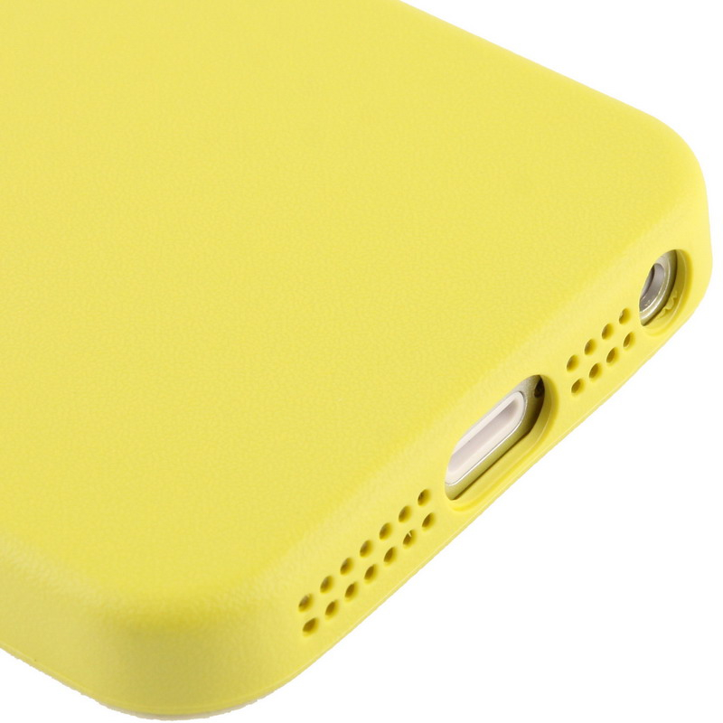 Kryt v originálnom Apple dizajne pre iPhone 5 5S SE – žltý ... 17f5edc25c9