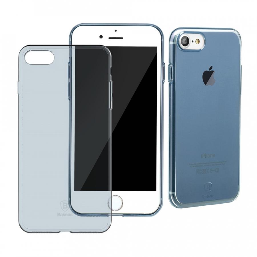 BASEUS tenký polopriehľadný kryt pre Apple iPhone 8   7 - modrý ... e347471f225