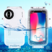 Vodotesné puzdro do hĺbky 40 m pre iPhone XS / iPhone X – biele