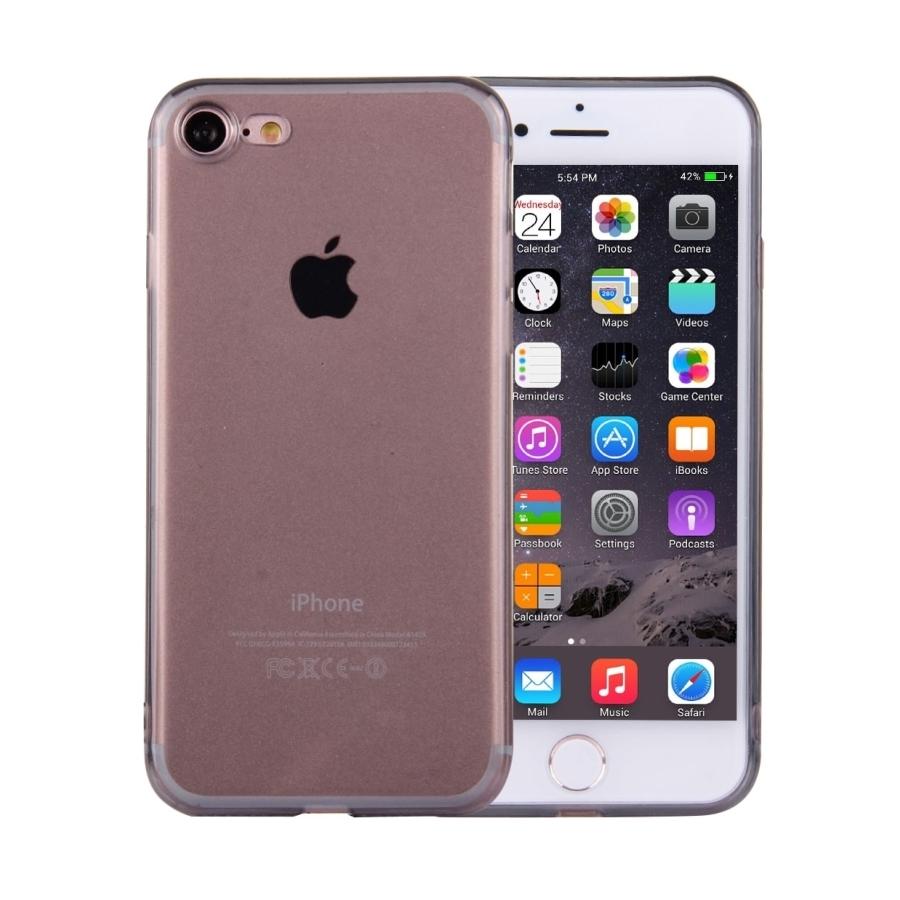Ultratenký 0.5mm tmavý silikonový kryt pre Apple iPhone 8   7 - čierny e1559e79fa3