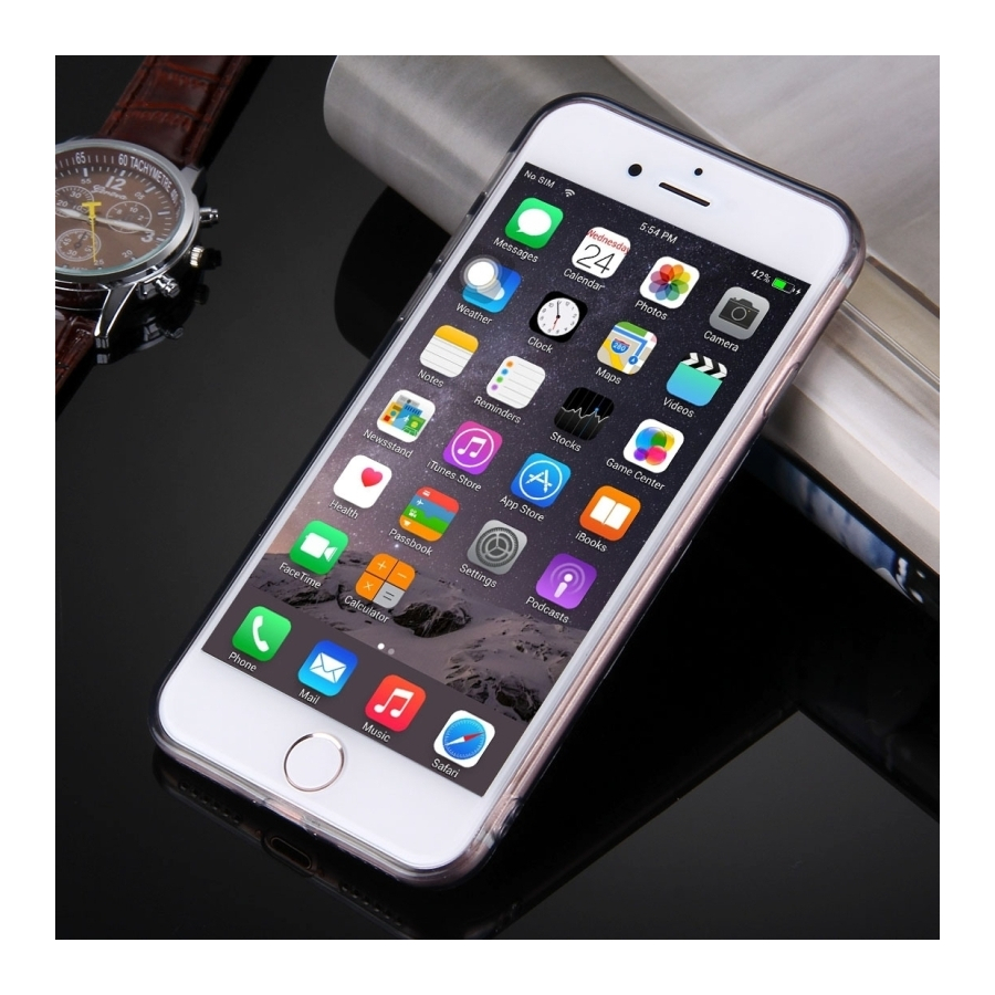 ... Ultratenký 0.5mm tmavý silikonový kryt pre Apple iPhone 8   7 - čierny  ... f3393d8bbd9