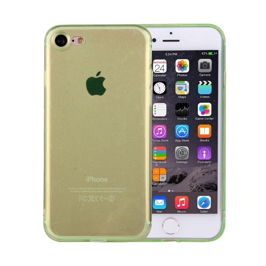 Ultratenký 0.5mm tmavý silikonový kryt pre Apple iPhone 8   7 - zelený ... 0c88259c6b4