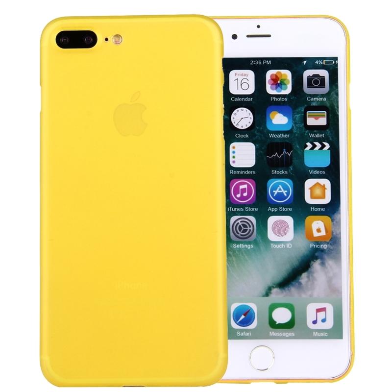 Ochranný matný zadný kryt pre Apple iPhone 8 Plus   7 Plus - žltý ... e272ad7f98e
