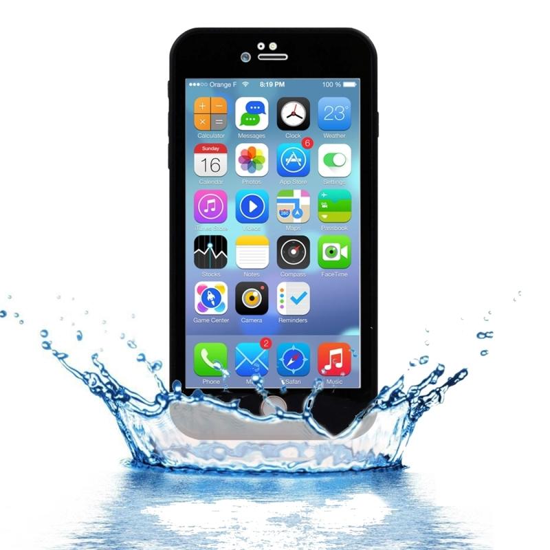 Vodotesný obal s diamantovým vzorom pre Apple iPhone 8 Plus   7 Plus -  čierny 24dc0877be9