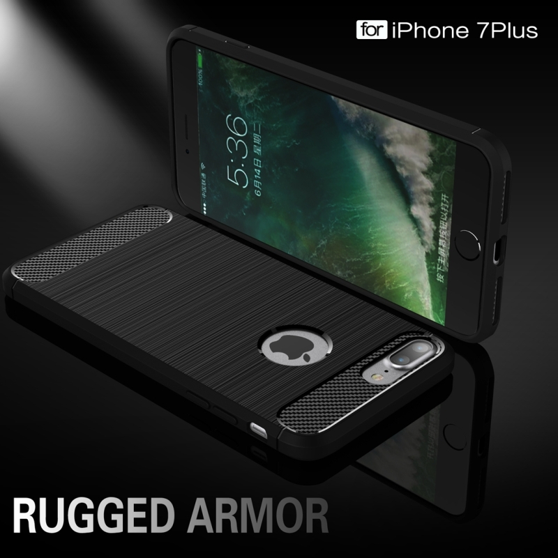 ... Odolný plastový kryt v štýle brúseného karbónu pre Apple iPhone 8 Plus    7 Plus ... 8caef2f40e8