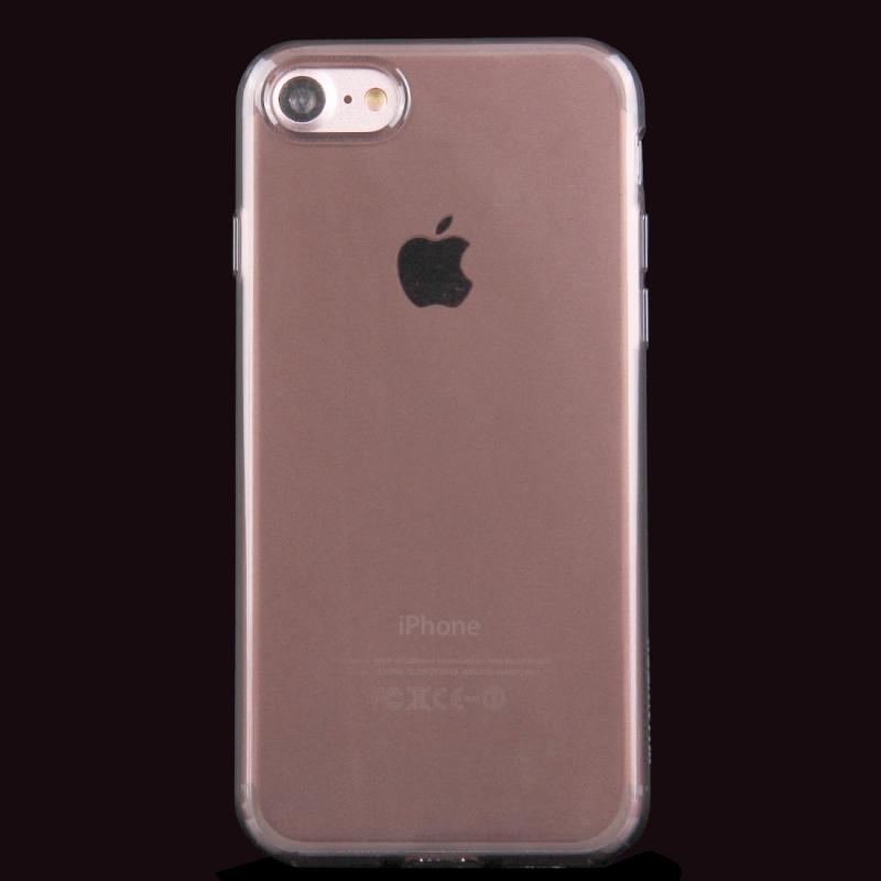 HAWEEL lesklý polopriehladný obal pre Apple iPhone 8   7 - čierny 8acd9fff071