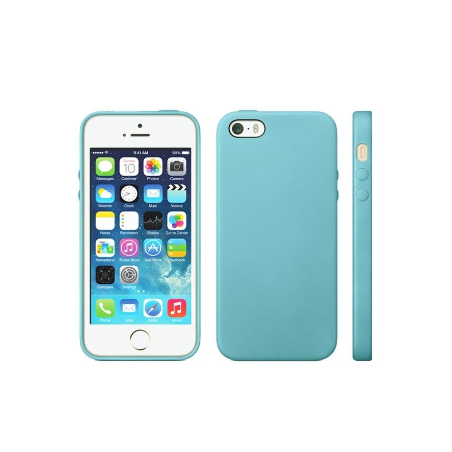 Kryt v originálnom Apple dizajne pre iPhone 5   5S   SE - modrý ... 89bed0823b9