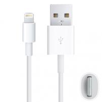 Synchronizačný anabíjací kábel lightning pre iPhone / iPad / iPod - 2m - biely